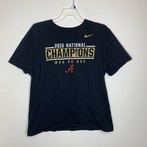 Nike Men XXL Black 2015 National Champions Alabama